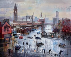 Cats and Dogs, Manchester by Tom Butler -  sized 30x24 inches. Available from Whitewall Galleries